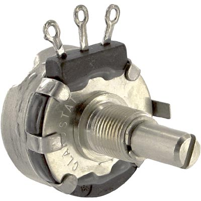 Potentiometers.  70153162. Pot; Cnd Pl; Rest 5 Kilohms; Panel; Linear; Pwr-Rtg 2W; Shaft Dia...