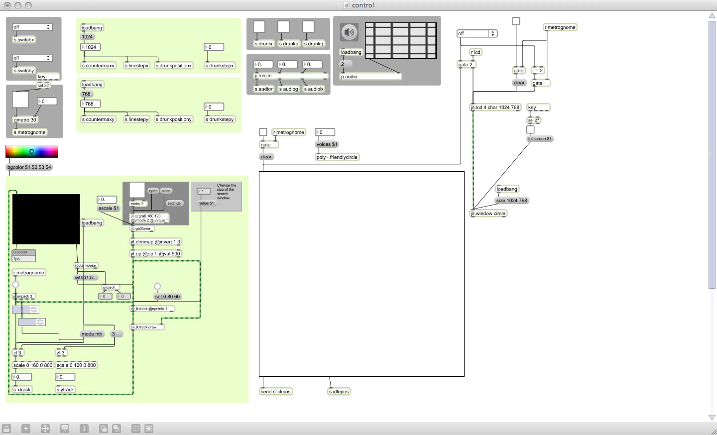 Open in presentation mode max msp patch
