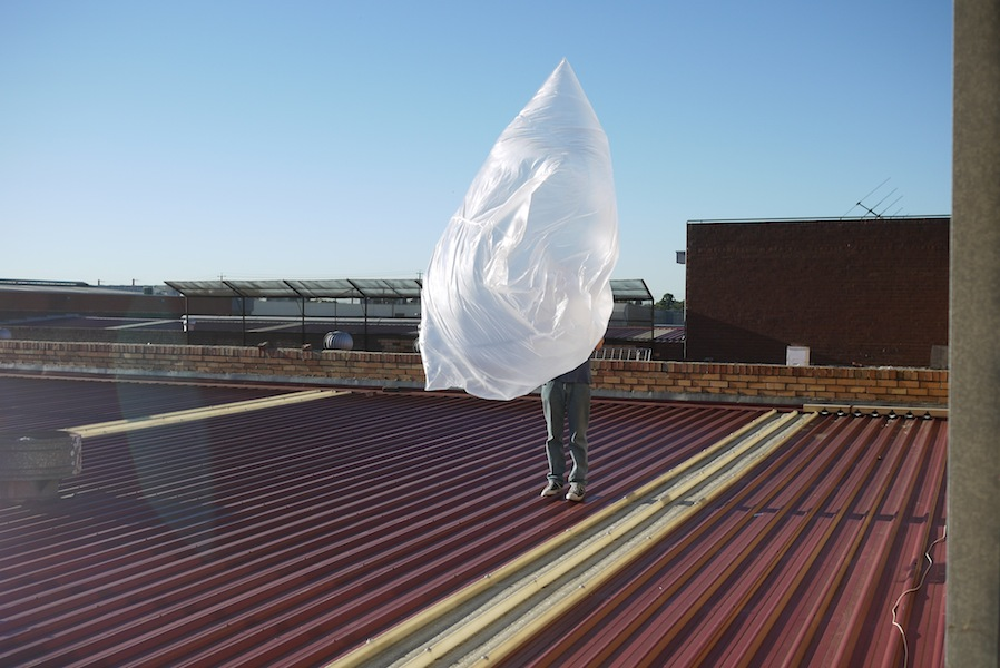 solar balloon on roof 1